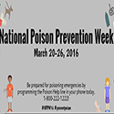 Maryland Poison Center Celebrates National Poison Prevention Week