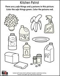 Worksheets Kitchen Safety Worksheets activity sheets kitchen patrol