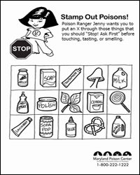 stamp out poisons - Aid Coloring Pages Kids