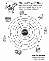 Poison Control Coloring Pages